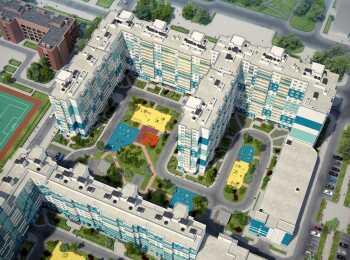 Вид на жилые корпуса сверху
